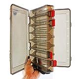 Demarkt wasserdichte Köderbox für Spoons, Spinner, Blinker und Fliegen - Passt in Jede Jacke Oder Tasche, Wasserdicht - Professionelle Angel Zubehör Aufbewahrungsbox