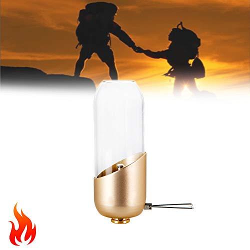 Tente Lanternes De Camping À Gaz, Petit Butane Camping Lampe, Coupe-Vent pour Randonnée, Pêche, Coupures De Courant Éclairage De Secours(2 Pcs)