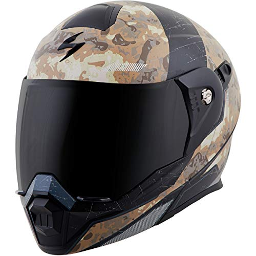 ScorpionExo EXO-At950 Unisex-Adult Flip-Up-Style Battleflage Helmet (Sand, X-Small)