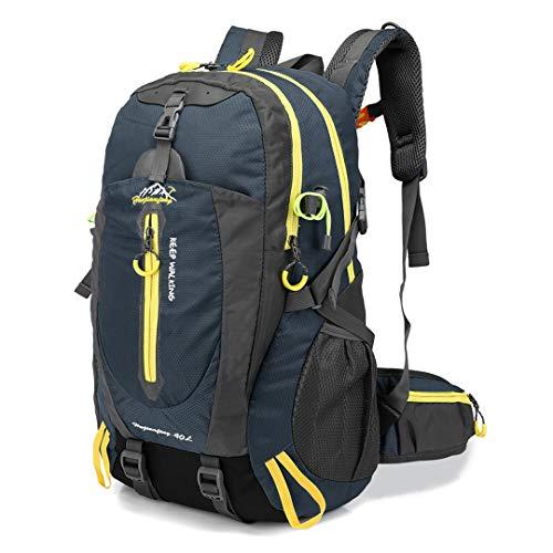 40L Water Resistant Travel School College Daypacks Camp Hike Laptop Trekking Climb Bags Dark blue 30-40L