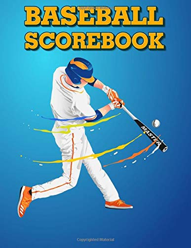 BASEBALL SCOREBOOK: 140 Baseball Score Sheets: Baseball Scorekeeper Book & Baseball Gamebook Keeper Record, 8.5x11 Baseball Log Book Journal For Softball Coach
