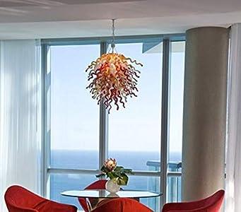 SHIJING 100% soplado borosilicato Pretty Home Arte Decoración Lámparas Dale Chihully Estilo de Cristal araña de Cristal de Murano