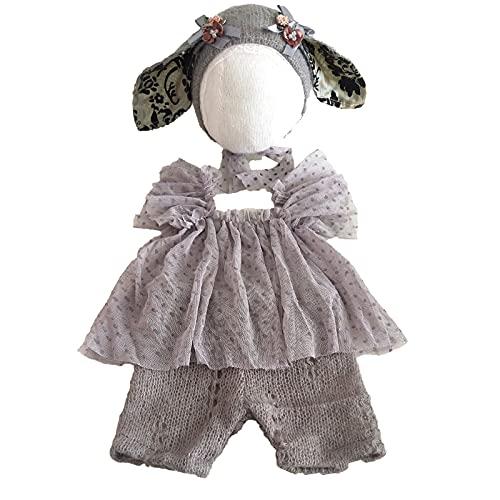 2pcs lindo beb fotografa accesorios sombrero foto traje beb accesorios