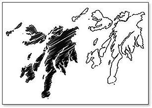 Imán para nevera con diseño de mapa de Argyll y Bute (Reino Unido, Escocia)