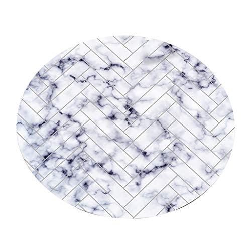 JCOCO Doux Hydratation Géométrie Simple Pratique Anti-dérapant Tapis Chambre Rond Généreux Tapis Ordinateur Rotation Coussin (Couleur : #1, Taille : 160 * 160cm)