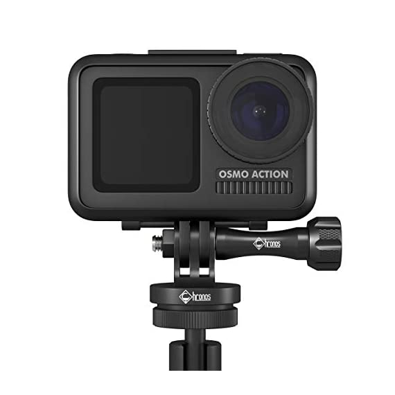 Chronos aluminum alloy cnc metal gopro tripod adapter / monopod mount with aluminum cnc thumbscrew for gopro max, gopro… 7 ✔️never break - tripod mount cnc cut from high quality aluminum with aluminum gopro dji osmo action thumbscrew ✔️versatility - standard 1/4-20 tripod stud for compatibility between accessories on any adventure or film session ✔️never lose end cap - built-in threaded end cap eliminating the need for a nut creating added strength and convenience