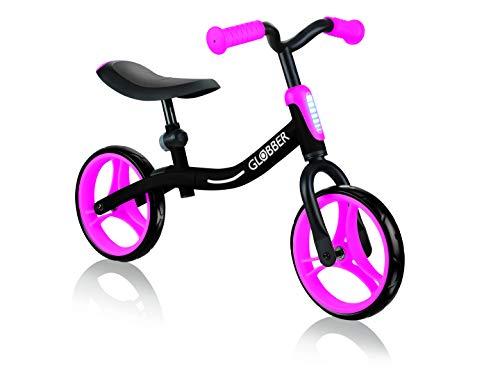 Globber GO Bike Draisena, Negro, Rosa, Réglable en Hauteur