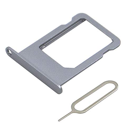 MMOBIEL SIM Karte Schlitten Tray Slot kompatibel mit iPhone 5S / SE 4.0 inch (Space Grau/Schwarz) inkl. SIM Pin