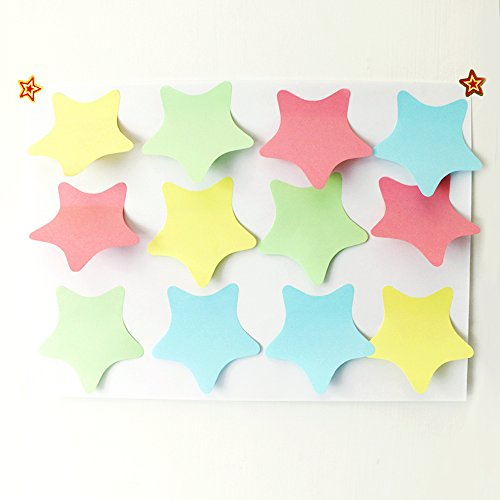PRALB 20PACK Rainbow Star-Shaped Self Sticky Notes Self-Adhesive Sticky Note Cute Notepads 100 Sheets Per Pad.(20 Pack/Box, Star) Sticky Notes,Sticky Note Star,Cute Sticky Notes,Sticky Notepad,Star Photo #5