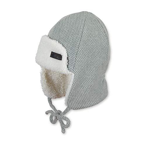 Sterntaler Fliegermütze für Jungen mit flauschigem Innenfutter, Alter: 2-4 Jahre, Größe: 53, Grau/Beige