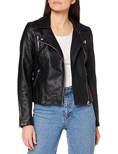 Only ONLGEMMA Faux Leather Biker Otw Noos Giacca, Nero (Black Black), 36 Donna