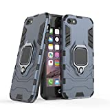 Delkart Tough Armor Bumper Back Case Cover for Apple I Phone 5 / SE / 5S / 5G | Ring Holder &...