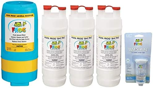 Pool Frog 5400 Mineral Reservoir Purifier Cartridge Replacement Chlorine Bac Pac 3 Pack and product image