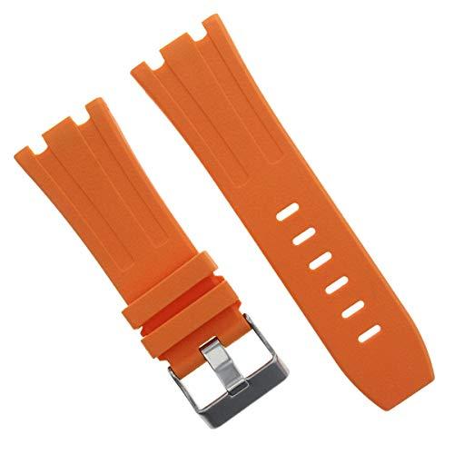 28mm Ap Rubber Band Strap Compatible with 42mm Audemars Piguet Royal Oak Offshore Orange