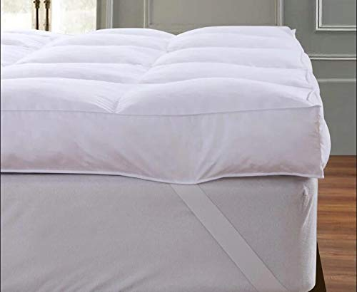 """QUEEN ROSE Queen Mattress Topper Cooling Extra Thick 3"""", 3D Snow Down Pillow Topper Mattress Pad Cover Bed Mattress Topper, Hotel Quality, Down Alternative, Plush and Support"""