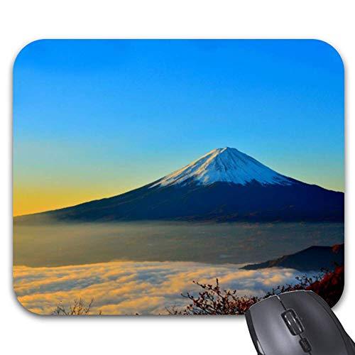 Japan Mount Fuji Bei Sonnenaufgang Foto Mauspad Trendige Computer Schreibtisch Bürozubehör