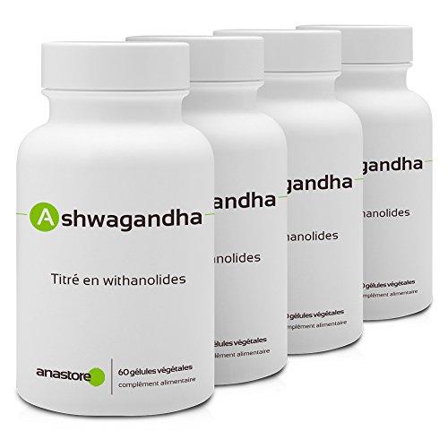 ASHWAGANDHA * OFERTA 3+1 GRATIS * 400 mg / 240 cápsulas Titulado al 5{835c7e8c979b84c1757f0a531e72e531504fcfb15858c174d7ab61fdf0ced1f9} en witanólidos * Energia (fatiga), Equilibrio emocional, Vitalidad, Sueño * Fabricado en Francia