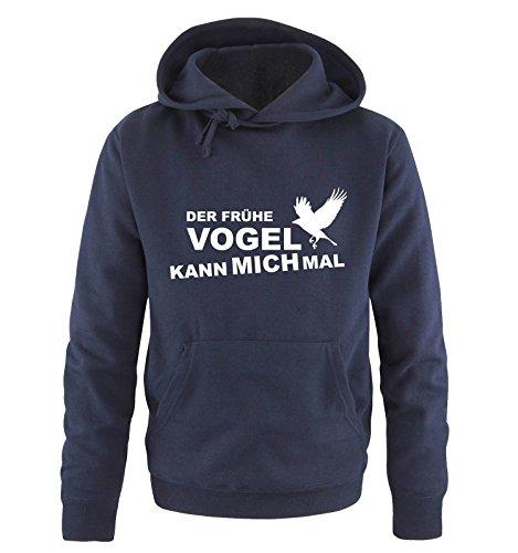 Comedy Shirts DER FRÜHE Vogel KANN Mich MAL... Herren T-Shirt Hoodie Navy Gr. XL