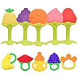 NEPAK 10 x Mordedores Bebes Refrigerante,Chupete Fruta Bebe,Mordedores Bebes Para Aliviar El Dolor De Encías Y Transformar A Comida Sólida