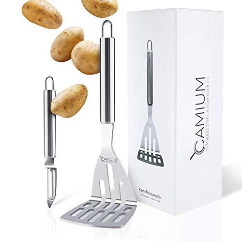 CAMIUM® Kartoffelstampfer [GRATIS Kartoffelschäler] - Stampfer [Spülmaschinenfest]