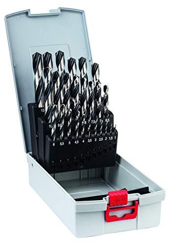Bosch Professional Set de 25 brocas helicoidales HSS PointTeQ, para metal, ProBox, accesorio de taladro