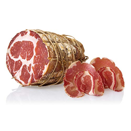 Coppa Salumi Pasini®   Peso 800 g   Embutido artesanal italiano   Ideal para el aperitivo   Sin gluten, sin lactosa y sin transgénicos