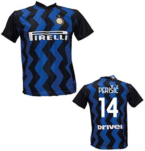 F.C.Internazionale Fußballtrikot Perisic 14 Inter Replica 2020-2021 für Kinder (Größe 2 4 6 8 10 12) Erwachsene (S M L XL) (XL)