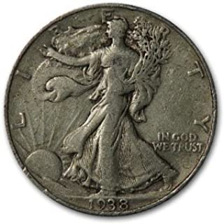 1938 Walking Liberty Half Dollar VG/VF Half Dollar Very Good