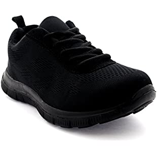 Customer reviews Womens Get Fit Mesh Running Trainers Athletic Walk Gym Shoes Sport Run - Black/Black - 6 - 39 - CD0047:Eventmanager