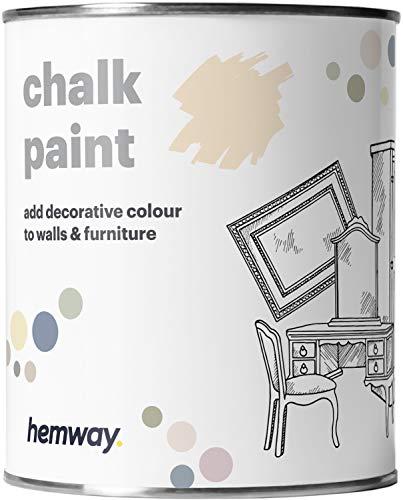 Hemway - Kreidefarbe für Möbel & Wände - matt - renoviert - 1 Liter - Magnolie