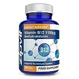 Vitamina B12 Metilcobalamina 1100mcg, 360 Tabletas Veganas (Suministro para 12 Meses) Ayuda a reducir el cansancio y la fatiga y contribuye a un sistema inmunológico saludable