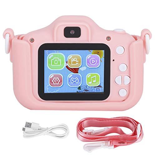 Shipenophy ABS X5S Kid Camera 2000W Pixels Cámara de fotografía de Doble cámara 2.0IPS Compatible con inglés, japonés, Coreano y más de Diez Idiomas más(Pink)