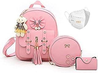 Star Dust Fashion Girls 3-PCS Fashion Cute Stylish Leather Backpack & Sling Bag Set for Women, School & College Girls/Leat...