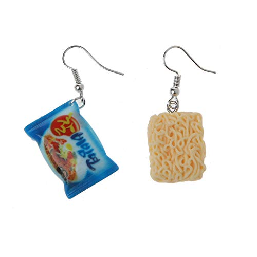 VEED Funny Instant Noodle Chili Simulation Food Drop Earrings Women Fashion Jewelry
