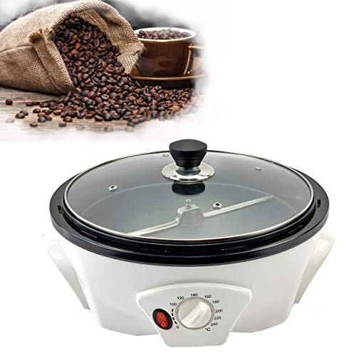 Coffee Roaster Machine for Home Use, 800g Capacity Electric Coffee Bean Roaster, Multifunctional Nut Peanut Cashew Chestnuts Roasting, Non-Stick Design, 110V