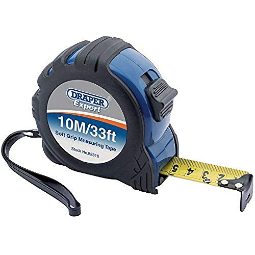 Draper 82816 Expert 10M 33ft Professional Measuring Tape Black and 10 m 33 ft
