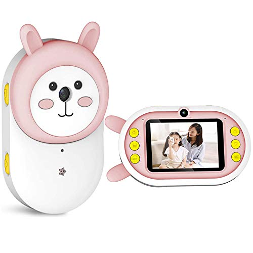 WiFi Children Video Camera, Full HD 1080P 32MP with 2.4 Inch Screen Dual Lens Video Digital Camera, Best Gifts for 3~12 Years Boys Girls Action Camcorder,Pink