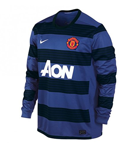 Nike Men's Manchester United Away Long Sleeve Jersey 2011/12 - Black/Blue (2X-Large)