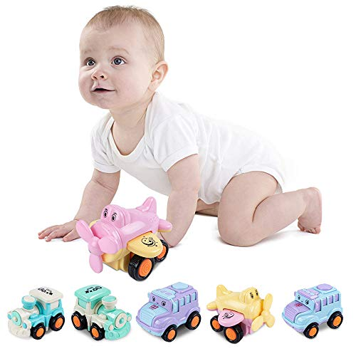 UNIH Baby Cars Toys 1218 Months Push and Go Cars for Baby Toddler Traffic Vehicle Toy Set Cartoon Airplane Train Bus for Toddler Toys Age 12 Year Old