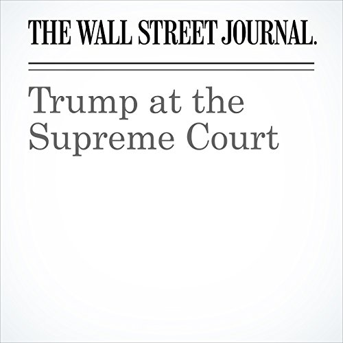 Trump at the Supreme Court copertina