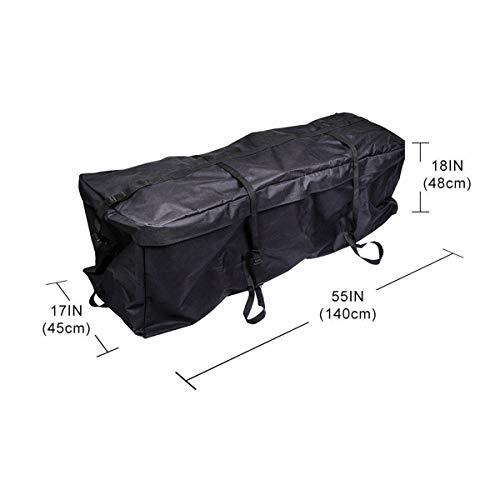 Dachbox Faltbar Auto Dachtasche Wasserdicht Staubdicht Dachgepäckträger Tasche für Reisen Gepäcktransport 140x45x48cm