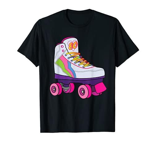 Divertido patinaje sobre ruedas Derby 70's 80's Retro Skater Girl Regalos Camiseta