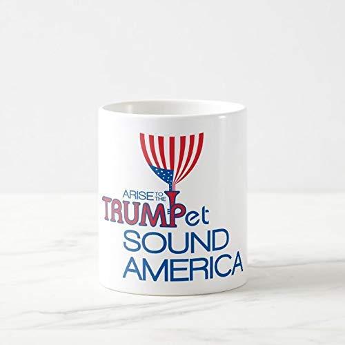 N\A Kaffeetasse, 11 Unzen Teetasse, Trump Trompete & Flagge Kaffeetasse