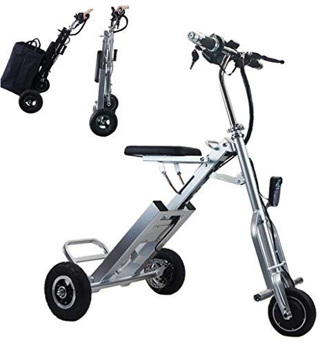 Bicicletas Eléctricas Plegable para los Adultos, Peso ligero Ebike Triciclos Patinetes Eléctricos...