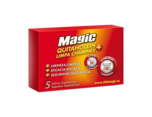Magic - Quitahollín Chimeneas - Limpia y mejora el tiro - 8 pastillas