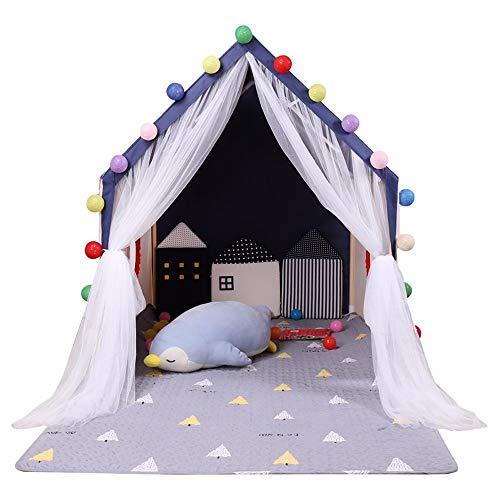 Jiamuxiangsi Tienda de campaña Infantil Rincón de Lectura en el Interior Niño en casa Casa de Gran tamaño Bebé Casa Juguete Jugar en casa Cama Artefactos Cama en Tienda Carpa Interior para niños