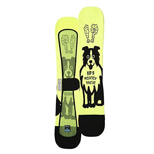 eb's(エビス) スノーボード ニットカバー KNIT COVER:DOG, yellow