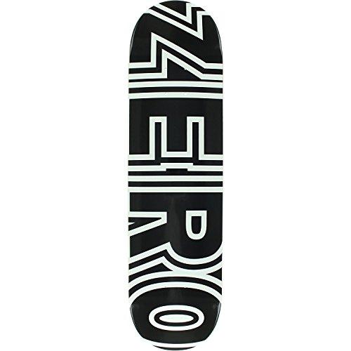 Zero Bold Deck-8.0Schwarz/Weiß montiert als Komplett Skateboard