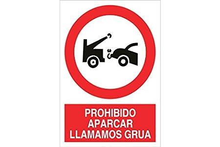 Cofan Cartel poliestireno Prohido aparcar aviso grua 420x297mm