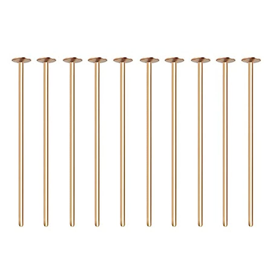 BENECREAT 300PCS 18K Real Gold Plated Flat Head Pins 21 Gauge Satin Pins for DIY Jewelry Making Findings - 20mm (0.8